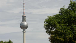 The Fernsehturm, Berlin TV Tower Footage