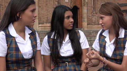 Teen Girl Explaining And Idea Footage
