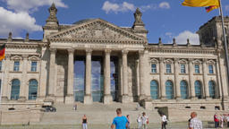 The Reichstag building in Berlin, Germany Footage