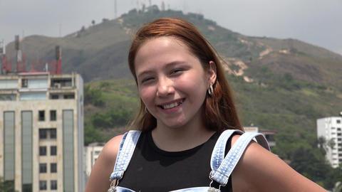 Surprise Of Happy Teen Girl Footage