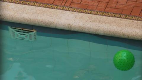 Closeup Of Swimming Pool Footage
