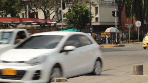 Urban Street Automobile Traffic Footage