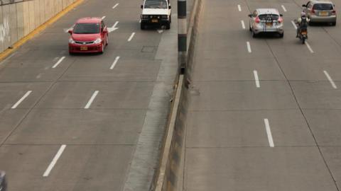 Vehicle Traffic On Onramp Live Action