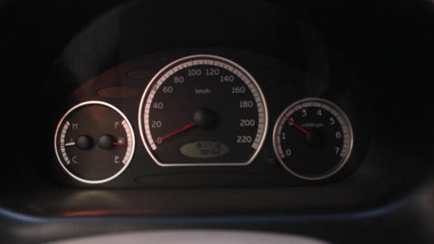 Car Tachometer While Revving Footage
