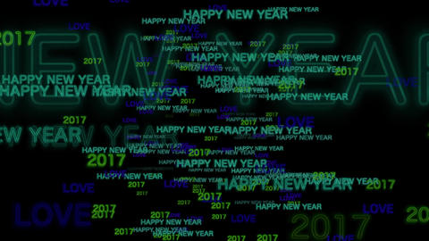 Happy New Year - Text Animation Footage