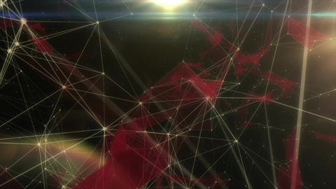 Futuristic data interactions - 4K stock loop background Animation