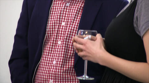 Glass of wine Footage