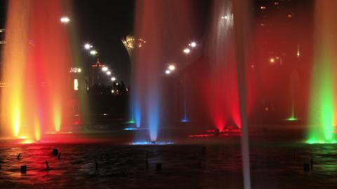 Fountains Bayterek 4K Time Lapse Animation