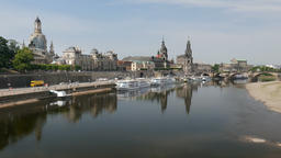 Dresden, Germany. The Elbe river Footage