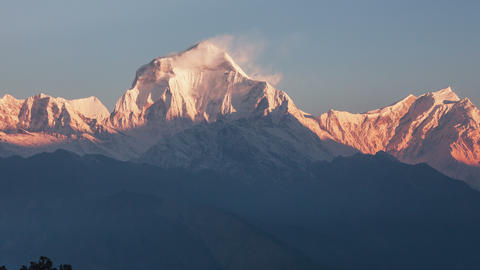 Dhaulagiri Peak Sunrise Avalanche Animation