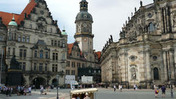 Dresden, Germany. The royal castle and Holy Trinity church Footage