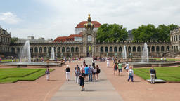 Dresden, Saxony, Germany. Zwinger palace - famous historic building Footage