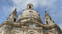 Dome of the Frauenkirche church in Dresden, Germany Footage
