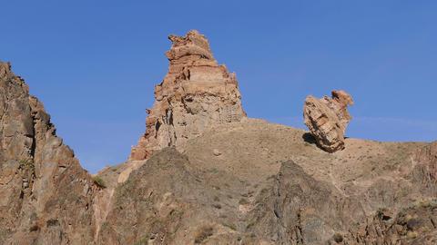 Charyn Canyon Sandstones 4k Footage