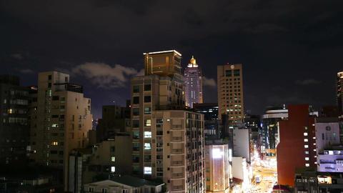 Skyline of Taipei at night, time lapse 影片素材