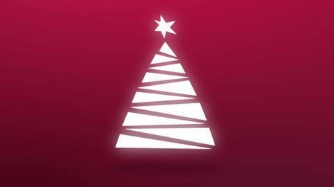 Christmas tree pop up Animation