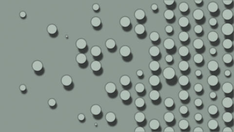 Dots popping up and disappearing. Abstract animation background Animation