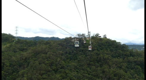 View Through Windows Of Ropeway Cabin Taipei Footage