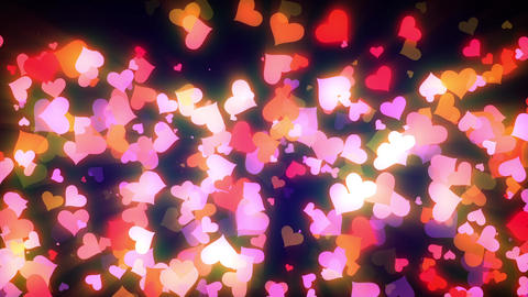 Glowing Hearts Particles Loop Animation