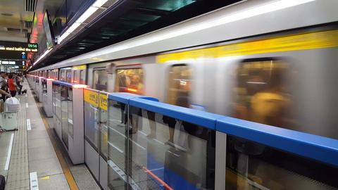 Taipei Metro main station Filmmaterial