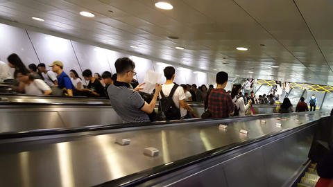 Taipei Metro main station Footage