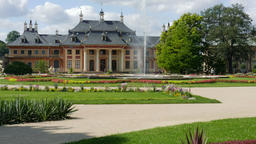 Pillnitz Palace and Park. Dresden Footage