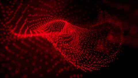 Wavy abstract motion background, drifting through organic shape Animation