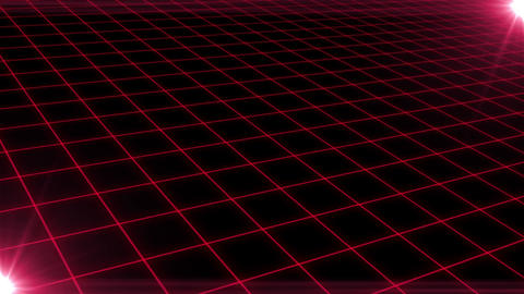 Grid CG Red CG動画
