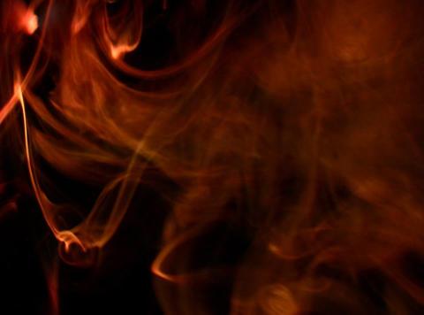 Orange Smoke 3 Footage