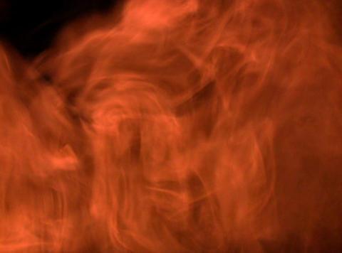 Orange Smoke 7 Stock Video Footage