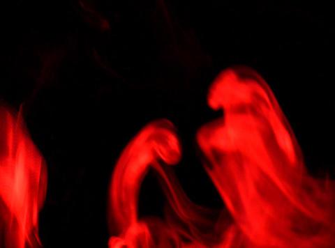 Red Smoke 7 Stock Video Footage