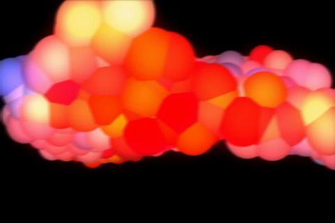3D Shaking Rainbow Molecule Animation