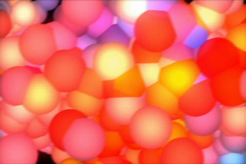 3D Shaking Rainbow Molecule Stock Video Footage