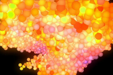 3D Molecules Animation Stock Video Footage