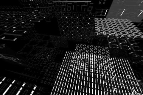 Fly Circuit Tunnel Flip Rotate Animation Stock Video Footage