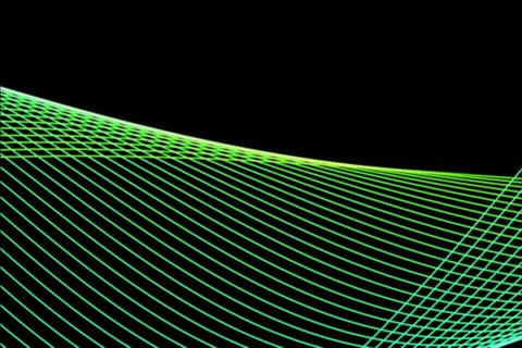 Green Harmonizer Slow Animation Stock Video Footage