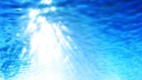 HD Underwater Sunlight Stock Video Footage