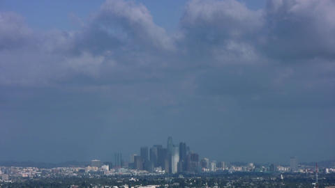 HD Downtown LA Cityscape Stock Video Footage