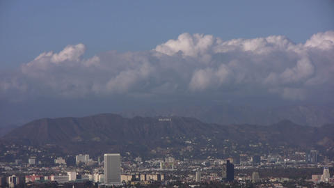 HD Hollywood Sign in Distant 30sec Stock Video Footage