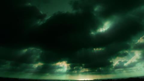 HD Ocean Horizon Green Stock Video Footage