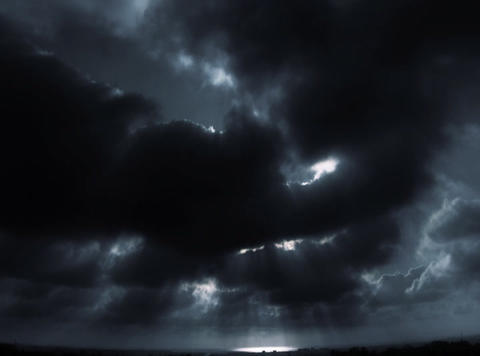 DV Black White Cloud Bird Shape Stock Video Footage