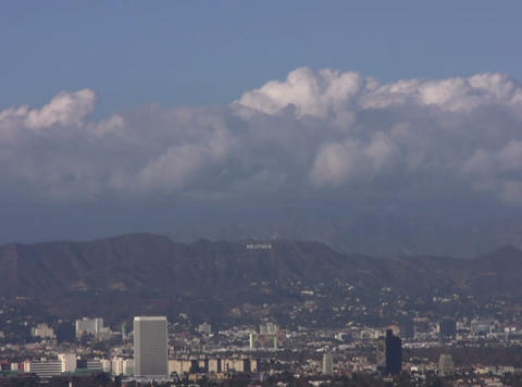 DV Hollywood Hills 60sec Stock Video Footage