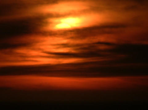 blood red sunset Stock Video Footage