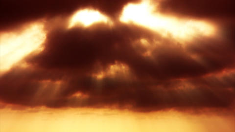 cloudy sunset sepia Stock Video Footage