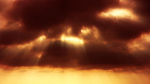 cloudy sunset sepia Footage