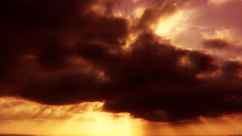 sunset clouds red Stock Video Footage