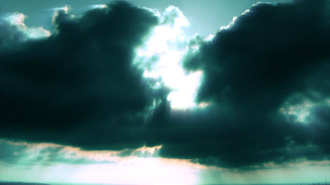 sunset clouds green Stock Video Footage