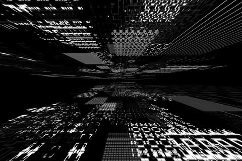 greyscale matrix Animation