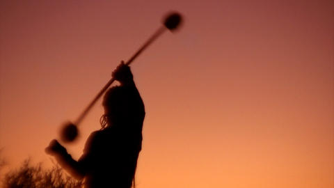 chaotic circus sunset Stock Video Footage