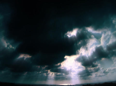 VJLoopH 152 SunsetCloudscapeBW Animation